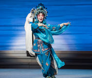 """Military uniform XIAOQING-The fifth act Steal immortal-Kunqu Opera""""Madame White Snake"""" Royalty Free Stock Images"""