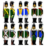 Military Uniforms Army Bavaria in 1812-2 Stock Images