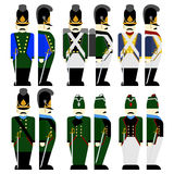 Military Uniforms Army Bavaria in 1812-1 Royalty Free Stock Photo