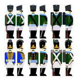 Military Uniforms Army Bavaria in 1812-3 Royalty Free Stock Image