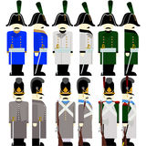 Military Uniforms Army Bavaria in 1812 Royalty Free Stock Images