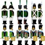Military Uniforms Army Bavaria in 1812-4 Stock Photos