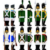 Military Uniforms Army Bavaria in 1812-5 Stock Images