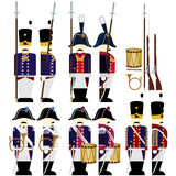 Military Uniforms Army Prussia in 1812-3 Stock Photos