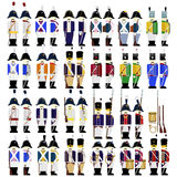 Military uniforms of the army of Prussia in 1812 Royalty Free Stock Photo