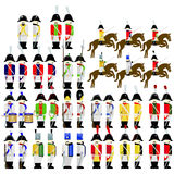 Military Uniforms Army of Saxony in 1812 Stock Photo