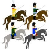 Military Uniforms cavalry army of Bavaria in 1812 Stock Image