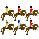 Military uniforms cavalry army of Saxony in 1812 Stock Photography