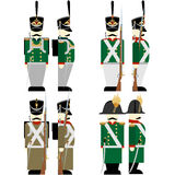 Military Uniforms Russian army in 1812-2 Royalty Free Stock Photography