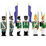 Military Uniforms Russian army in 1812-3 Stock Image