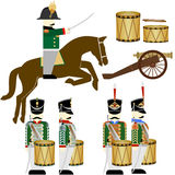 Military Uniforms Russian army in 1812-5 Stock Photos