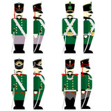Military Uniforms Russian army in 1812 Stock Image