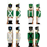 Military Uniforms Russian army in 1812-4 Stock Photos
