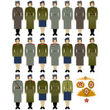 Military Uniforms of the Soviet Army and Navy-1 Royalty Free Stock Images