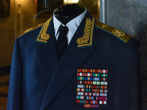 Military uniforms of Soviet troops Royalty Free Stock Photography