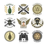Military Units Emblems Royalty Free Stock Image