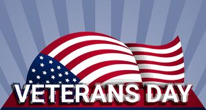 Military us veterans day concept background, realistic style stock illustration