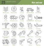 Military vector icons set Royalty Free Stock Photography