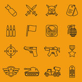 Military vector line icons Royalty Free Stock Image
