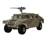 Military vehicle 1. 3D render of a toy military vehicle Royalty Free Stock Photography