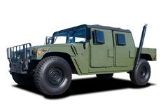 Military Vehicle. A Green Military Vehicle Isolated on White Royalty Free Stock Photography