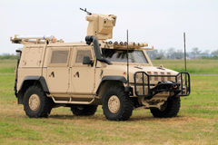 Military Vehicle. On the field during air shows stock photos