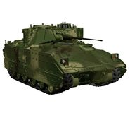 Military vehicle 2. 3D render of a toy military tank Stock Photos