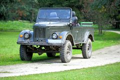 Military vehicle. Old allies military vehicle of world war two stock images