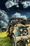 Military vehicle. British Military Vehicle in HDR Royalty Free Stock Images