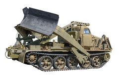 Military vehicle for build roads stock image