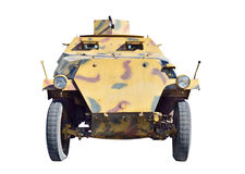 Military vehicle. German military vehicle from second world war. Isolated with path on white royalty free stock photo