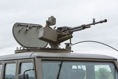 Military vehicle with heavy machine gun Royalty Free Stock Photography