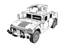 Free Military Vehicle Isolated On A White Background Stock Photo - 181391300