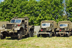 Military vehicle lineup Stock Photo