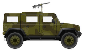 Military Vehicle with Machine Gun Stock Image