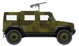 Military Vehicle with Machine Gun Stock Image