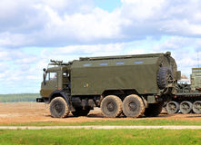 Military vehicle on the military camp Stock Photography