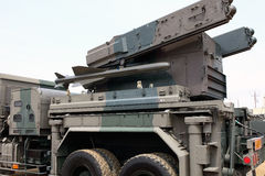 Military vehicle with missile Stock Image
