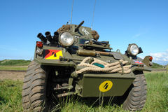 Military vehicle, old, WWII type. Royalty Free Stock Photos