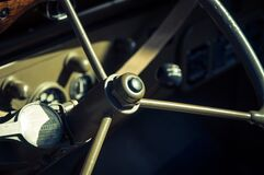 Military vehicle steering wheel Royalty Free Stock Images
