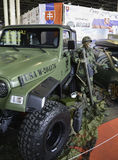 Military Vehicle. 11th Car and Motorcycle Tuning Show in Hungexpo, Budapest, Hungary. Photo taken to: March 19th, 2016 Stock Images