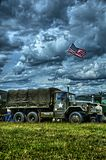 Military vehicle. US Military Vehicle in HDR Stock Images