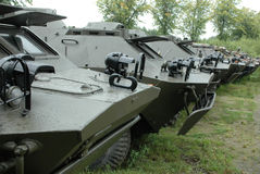 Military vehicles Stock Image