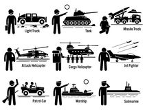 Military Vehicles Army Soldier Transportation Set Clipart Royalty Free Stock Images