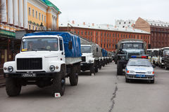 Military vehicles befor victory parade Stock Photography