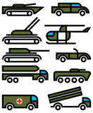 Military vehicles and equipment. Signs Royalty Free Stock Photo