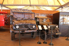 Military vehicles in Koc Museum. ISTANBUL, TURKEY - JULY 29, 2016: Military vehicles in Rahmi M. Koc Industrial Museum. Koc museum is industrial Museum dedicated Stock Photography
