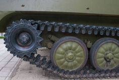 Military vehicles of the Second World War, tanks transmission device Royalty Free Stock Image