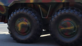 Military Vehicles Wheels stock video footage
