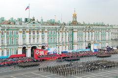 Military Victory parade. ST.-PETERSBURG, RUSSIA - 2010 MAY 9: Military Victory parade (victory in the World War II) is spent every year on May 9 on Palace Stock Image